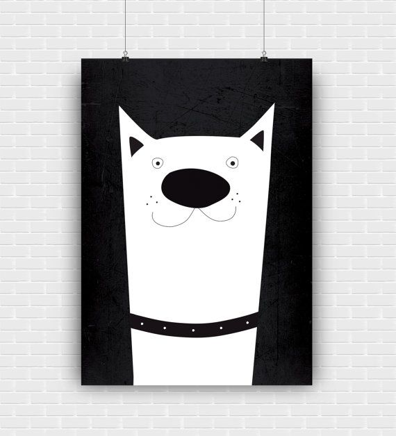 Stylish and modern dog illustration. Black and by GraphicCorner