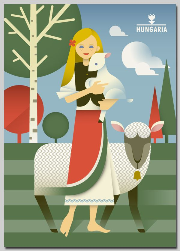 Hungaria posters by Szoki , via Behance