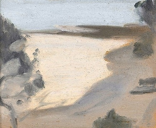 bofransson:  Silver Sea (Towards Rickett's Point) (circa 1930) - Clarice Beckett