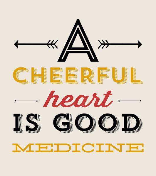 a cheerful heart print by allyson johnson via society6