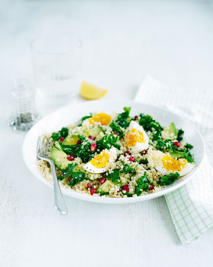 Egg, quinoa and kale salad | Egg Recipes