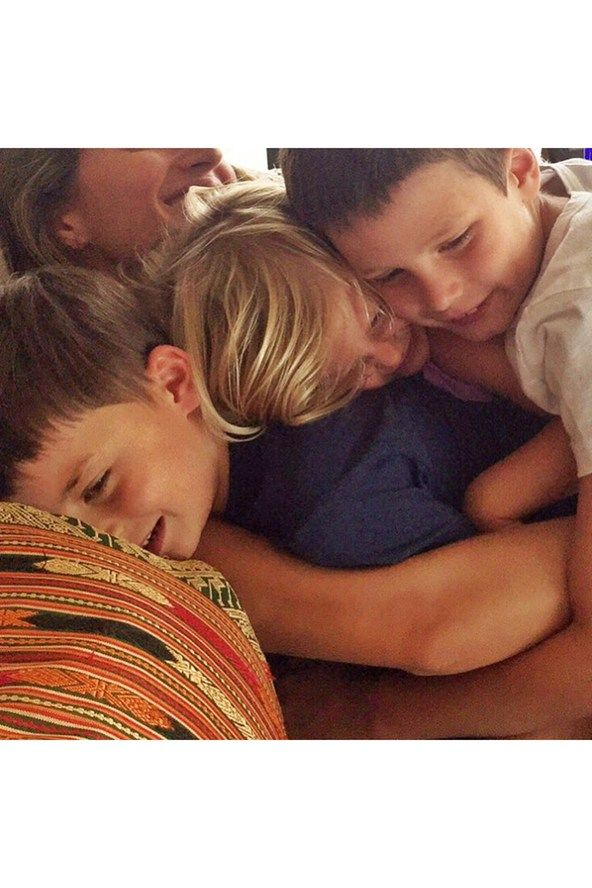 August 23 Gisele Bundchen wishes her stepson John a happy ninth birthday by posting a picture with herself with him and and his siblings, Benjamin and Vivian, on her Instagram account. John is the son of the supermodel's husband Tom Brady and his former partner, actress Bridget Moynahan.