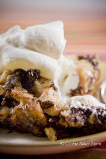 Chocolate Cherry Bread Pudding