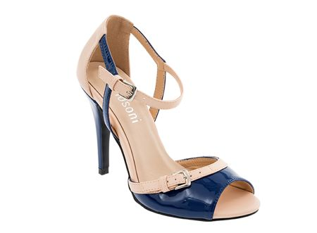 We love these two-tone heels, which marry the class of nudes with the subtle elegance of navy - a must for summer! #Spitz #SS14 #shoes