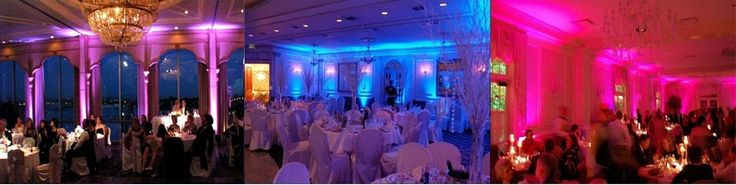 Rent uplighting to achieve this look for your wedding. $19 per light any color,   Monograms $75