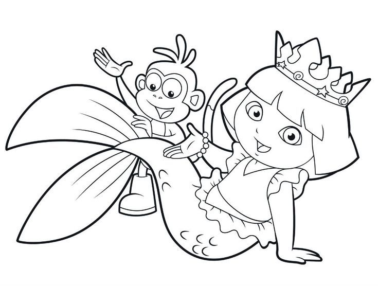 25 Wonderful Dora The Explorer Coloring Pages Procoloring Com Make Your World More Colorful With Free In 2020 Mermaid Coloring Pages Dora Coloring Mermaid Coloring