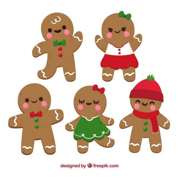 Download Gingerbread Man Cookies In Cartoon Style For Free Dibujos Animados De Navidad Galletas De Gengibre Navidad Dibujo De Navidad