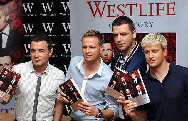 #TBT Today 8 Years ago Westlife posed at a signing session for their new book 'Westlife' at Waterstones on June 16, 2008 in London #kianegan #shanefilan #nickybyrne #markfeehily #westlife #throwbackthursday #ourstory #book