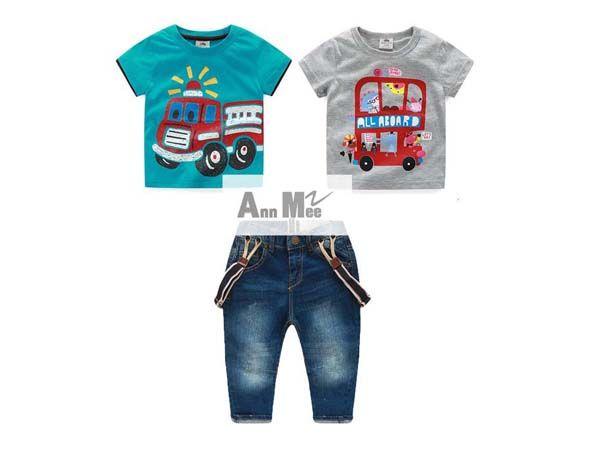 Setelan anak laki-laki import 3in1 kaos ripped jeans + suspender umur-3-4-5 tahun - http://keikidscorner.com/baju-anak-laki-laki/baju-setelan/setelan-anak-laki-laki-import-3in1-kaos-ripped-jeans-suspender-umur-3-4-5-tahun.html