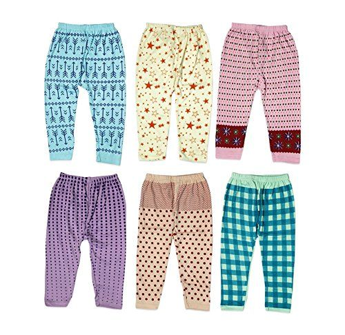 Guchu 100% Hosiery Cotton Baby Pyjama for Baby Girl, set of 6 | Best Of Kids Zone