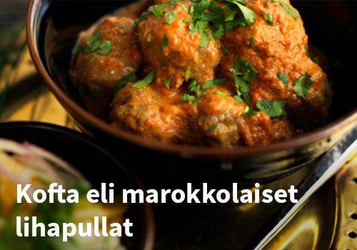 Kofta eli marokkolaiset lihapullat, Resepti: Hookoo #kauppahalli24 #marokkolaiset #lihapullat #marokkolainen #ruoka #kofta #hookoo #resepti