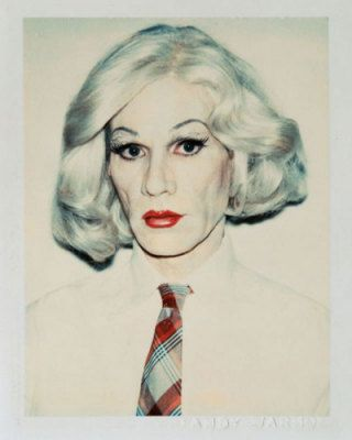 Self-Portrait in Drag, 1981 (straight on), Andy Warhol Tavlor, Glicée