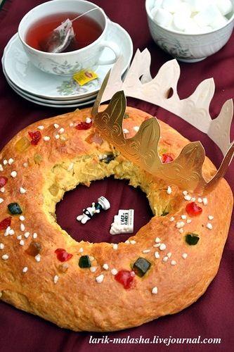 """larik_malasha: Французское Рождество. Королевская галета """"Couronne des rois"""""""