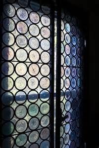 Glass bottle windows
