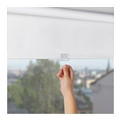 "IKEA - TUPPLUR, Block-out roller blind, 38x76 ¾ "", , The blind is cordless for increased child safety.The room darkening blind has a special coating and does not let any light through.Can be mounted inside or outside the window frame, or in the ceiling.You can cut the right side of the roller blind to fit your window."