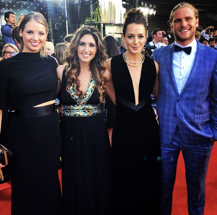 Katrina Kavvalos on the red carpet, with the Home & Away cast, at the 5th AACTAs