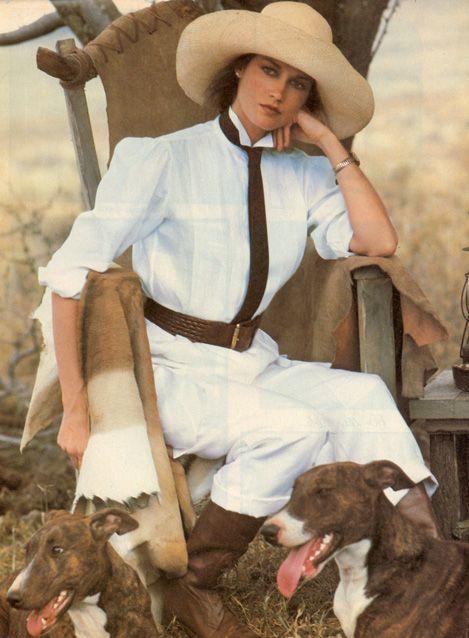 Campaign: Ralph Lauren  Season: Spring 1984  Photographer: Bruce Weber  Model(s): Clotilde