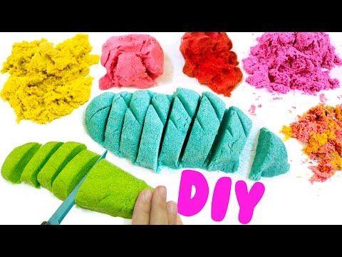 DIY KINETIC SAND | EASY DIY Sensory Toys for Kids - YouTube