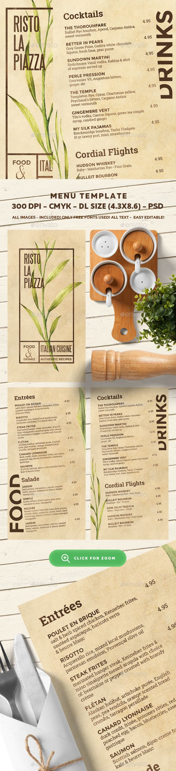 Restaurant Menu Template PSD. Download here: http://graphicriver.net/item/restaurant-menu-template/16704191?ref=ksioks