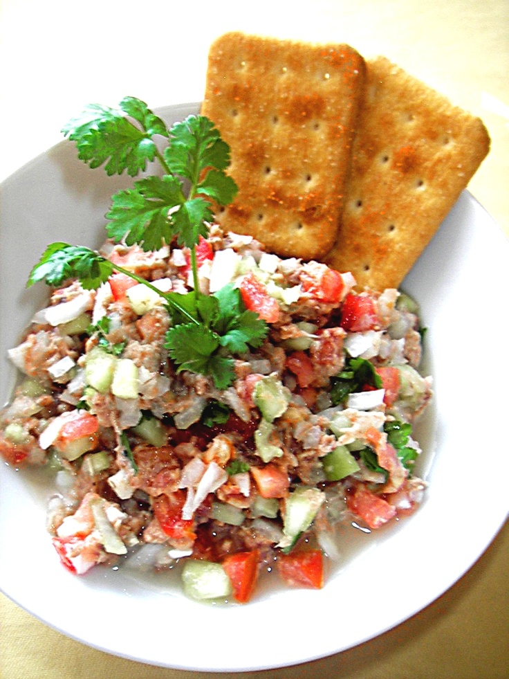 Ensalada de atun estilo ceviche - Sałatka z tuńczyka ala ceviche