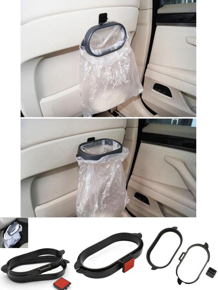 [Visit to Buy] Rubbish Bin Car Organizer Trash Bag Rack Auto Accessories Car Styling hanger Vehicle Frame Garbage Bag Holder Portable #Advertisement