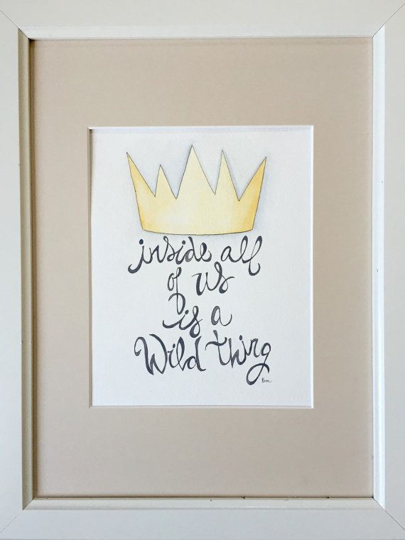 Where the Wild Things Are Nursery Decor. Children's books Nursery Decor. King of All Wild Things Nursery Art.