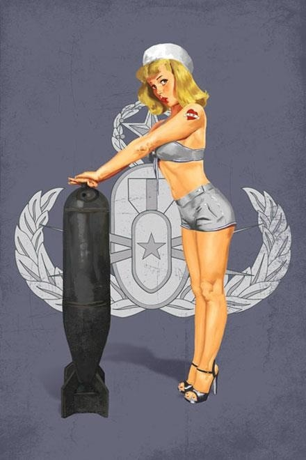 Awesome EOD pinup art!