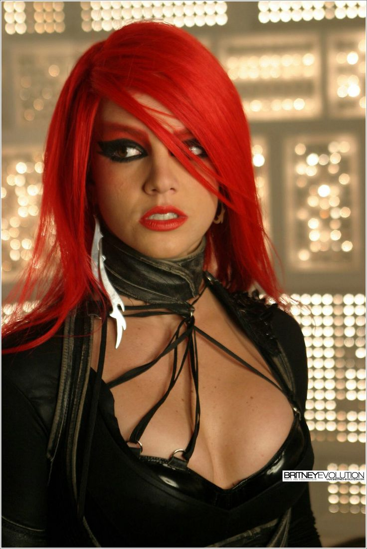 Britney Spears Toxic Red Hair