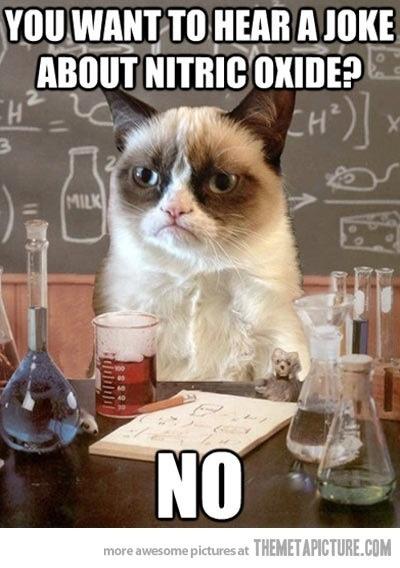 Een ietwat knorrige kat over chemie.
