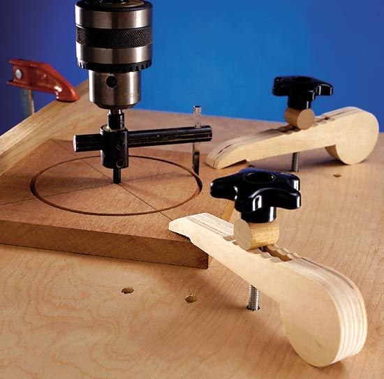 Drill press hold downs