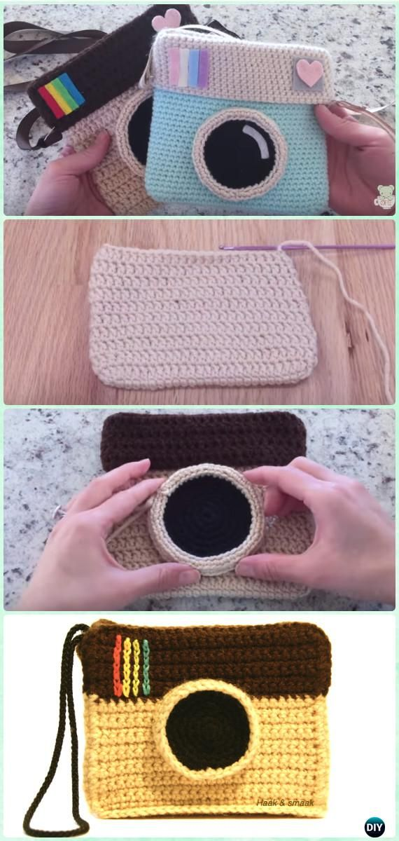 Crochet Instagram Camera Bag Free Pattern with Video - Crochet Kids Bags Free Patterns