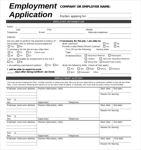 Esl Writing Practice Filling Out An Application Form Job