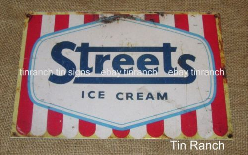 STREETS-ICE-CREAM-TIN-SIGN-New-vintage-Australian-retro-rustic-metal-advertising