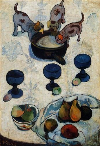 Still+Life+with+Three+Puppies+-+Paul+Gauguin