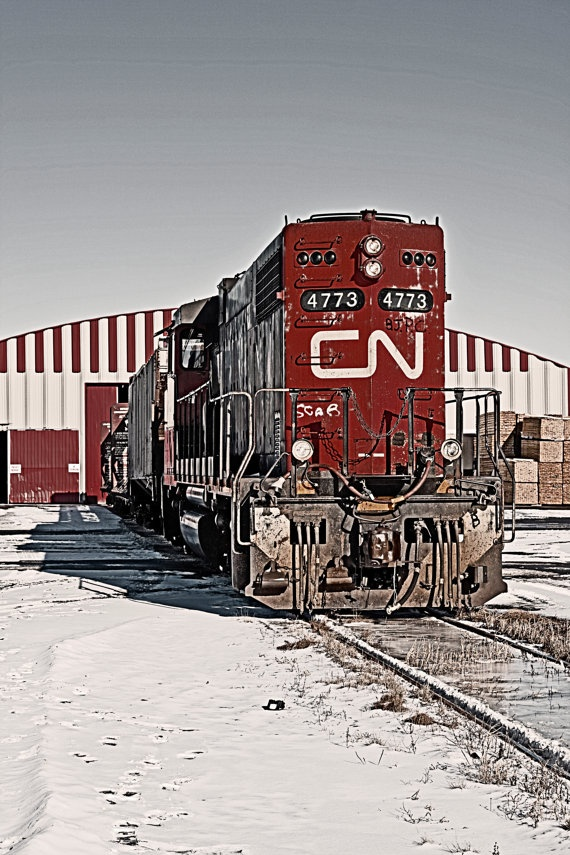 CN Train print Wall Art