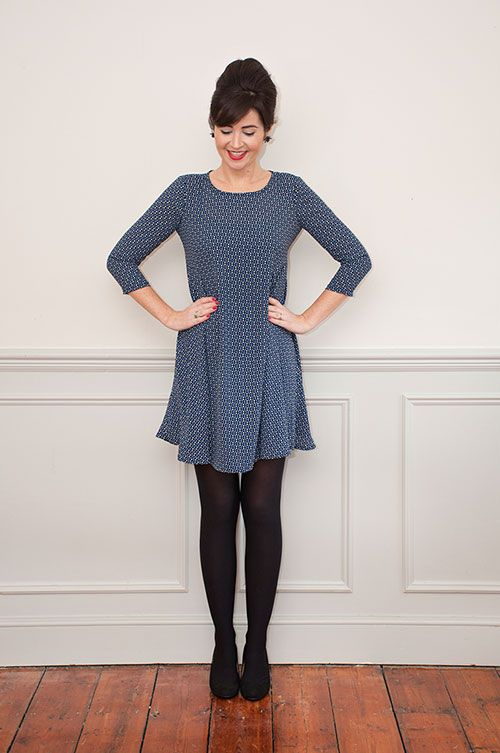 Sew Over It Nancy Dress Sewing Pattern - our favourite swing dress, perfect for sophisticated nights out
