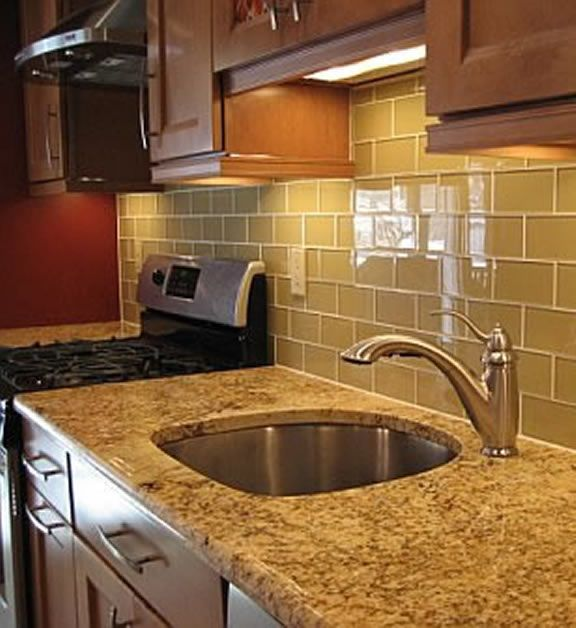 Kitchen Backsplash Tile Including Glass Mosaic Tile