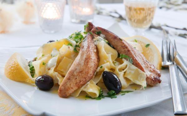 Oppskrift på Sitronkylling med pasta