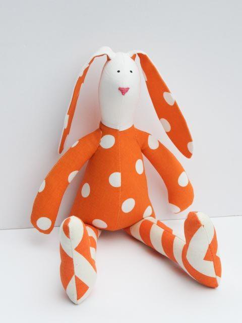 Easter bunny stuffed rabbit hare plush rabbit by HappyDollsByLesya
