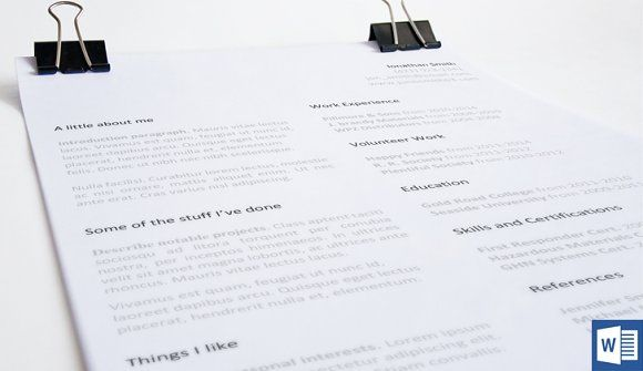Minimal Resume Template by 12 Resumes  on @creativemarket