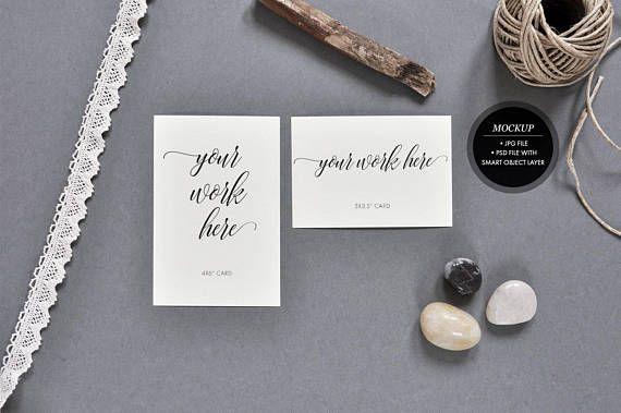 Styled stock photography   card mockup wedding invitation