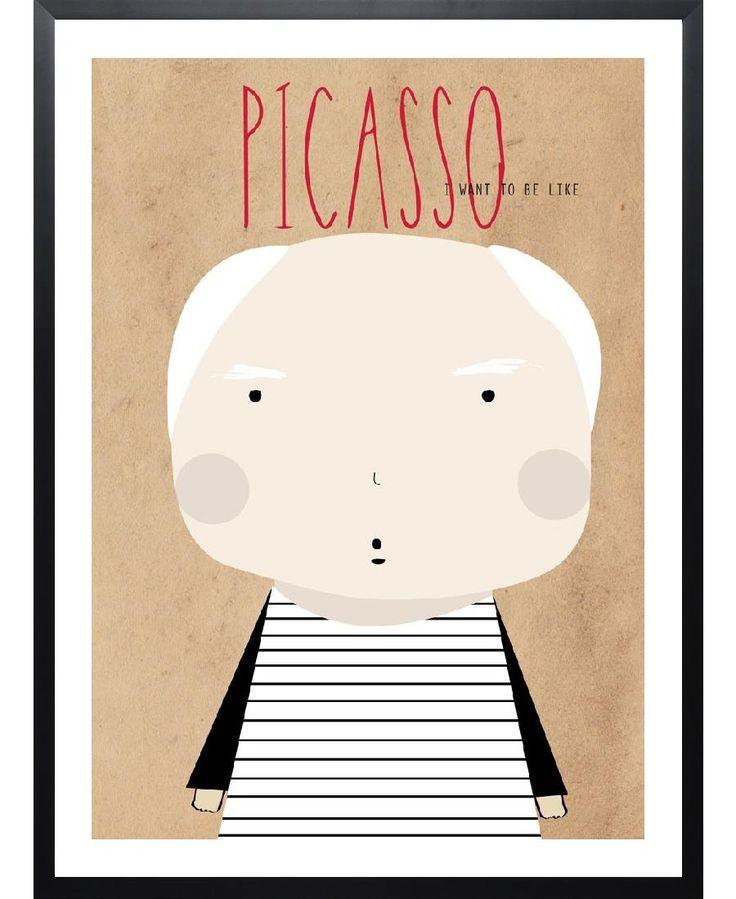 Little picasso as framed art print by niñasilla