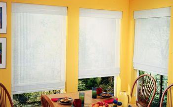 white bamboo blinds
