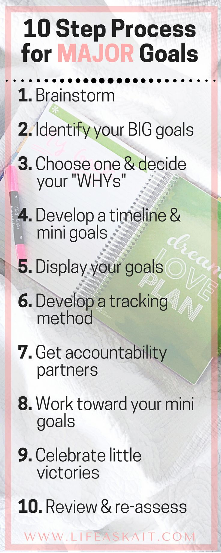 goals in obtaining personal responsibility Ten obstacles to why people don't achieve their goals  you must learn to take full responsibility for your life  they cover personal and family goals .