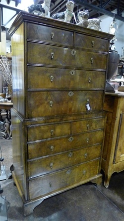 Antique George I Walnut Chest on Chest