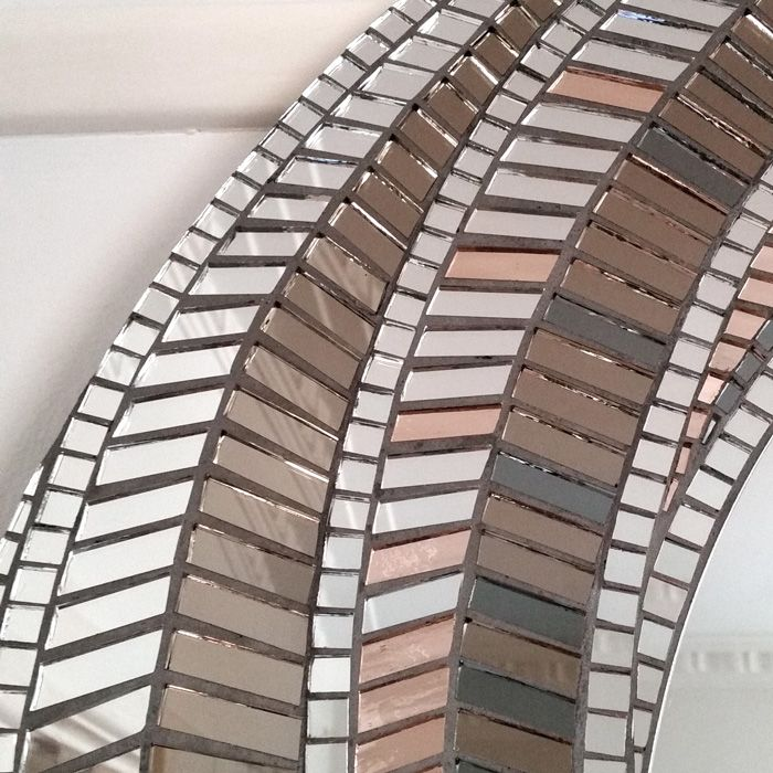 Detail of my mosaic mirror VORTEX - Oct15