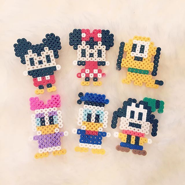 Mickey Mouse and friends perler beads by beadaholics