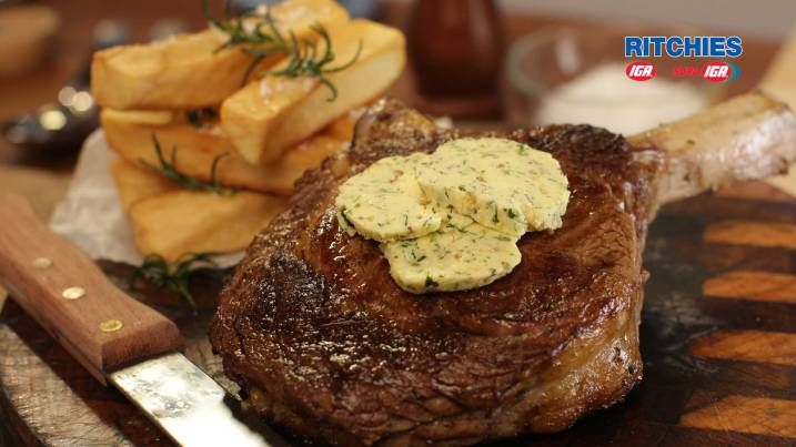 perfect New York steak with Paris butter