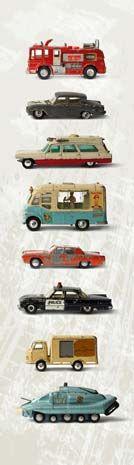 Een stoere auto muursticker voor de jongenskamer! De oude Dinky Toys geven direct een mooie vintage sfeer aan de kamer... Het stickerpaneel wordt gemaakt op zelfklevend textiel en is makkelijk aan te brengen en te verwijderen zonder schade. merk: Kleefenzo