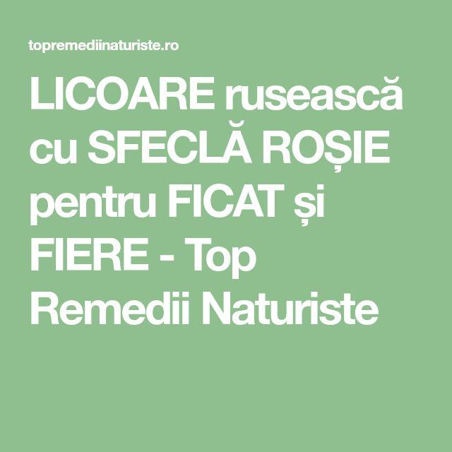 LICOARE rusească cu SFECLĂ ROȘIE pentru FICAT și FIERE - Top Remedii Naturiste